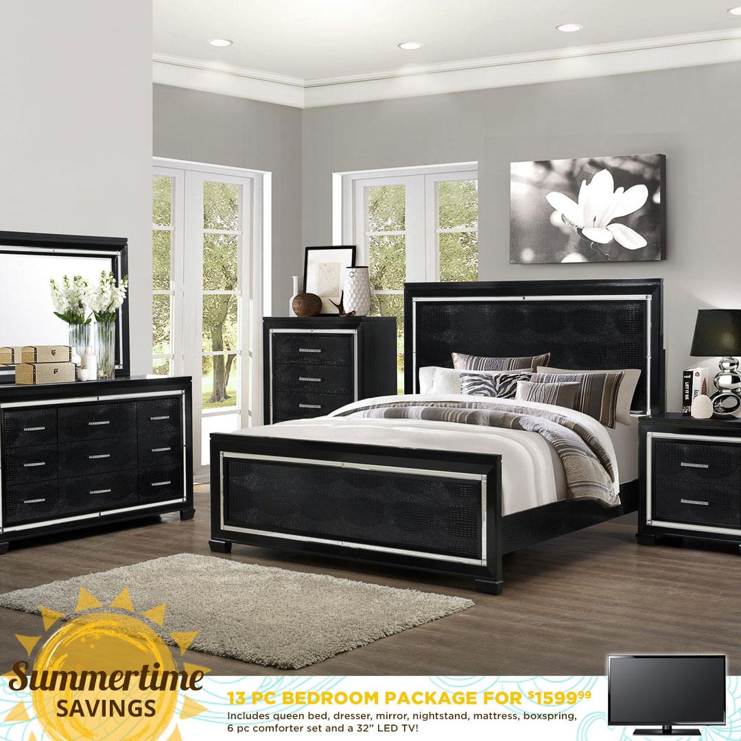 Bargain Furniture Brownsville Bedroom Package Deal